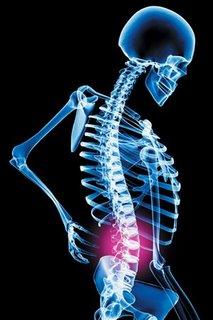 Dor em região lombar da coluna vertebral