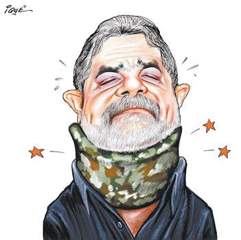 Lula com torcicolo